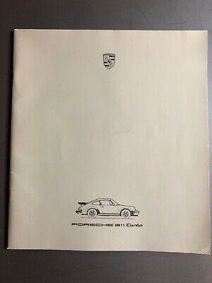 1986 Porsche 911 Turbo DELUXE Showroom Advertising Sales Brochure RARE!! L@@K