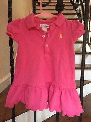 Baby Girl's Size 9 Months Ralph Lauren Dress Pink Short Sleeves