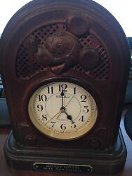 1987 Disney Seiko Mickey Mouse 60th Anniversary Singing Music Alarm Clock WORKS