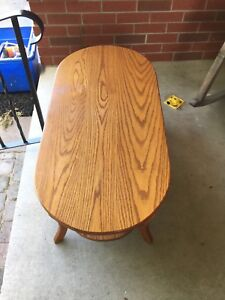 Solid oak coffee table Mennonite made