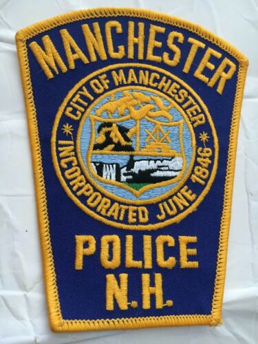 Manchester New Hampshire Vintage Police Patch