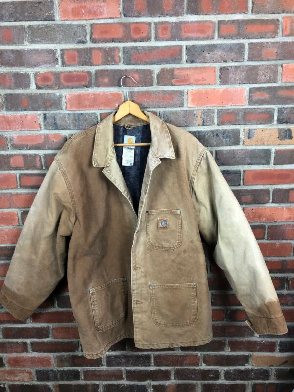 vintage Made In The USA Carhartt Jacket Mens Xxl Distressed Vtg Work Wear