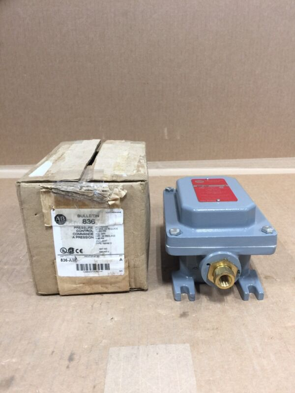 NEW ALLEN BRADLEY 836-A3E PRESURE CONTROL SWITCH FREE 2 DAY AIR BUY NOW ONLY