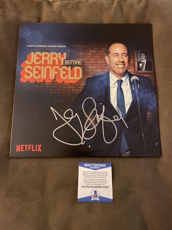 Jerry Seinfeld Signed Vinyl Beckett COA Comedy Legend Auto Autograph