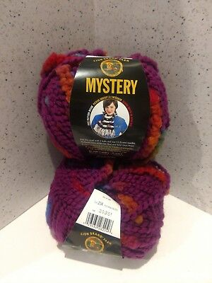 LION BRAND YARN *Mystery*  2 (50g) Bulky Skeins for the included Scarf Pattern