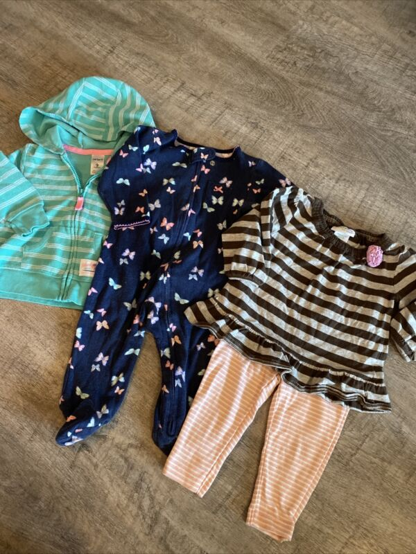 Baby Girl Carters 4pc Lot, Size 9 Months, Sooo Adorable!