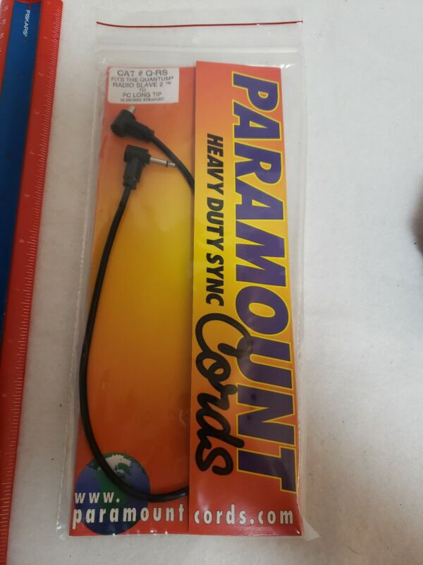 NEW Paramount Heavy Duty Sync Cords # Q-RS Fits Quantum Radio Slave 2 16 Inches
