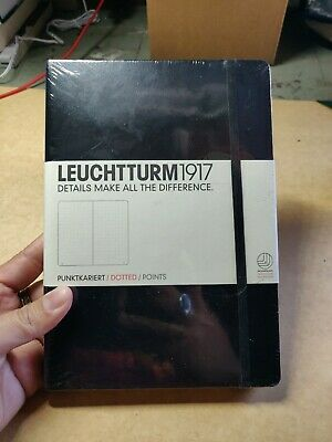 Leuchtturm1917 Dotted Hardcover Notebook - 249 Pages Black