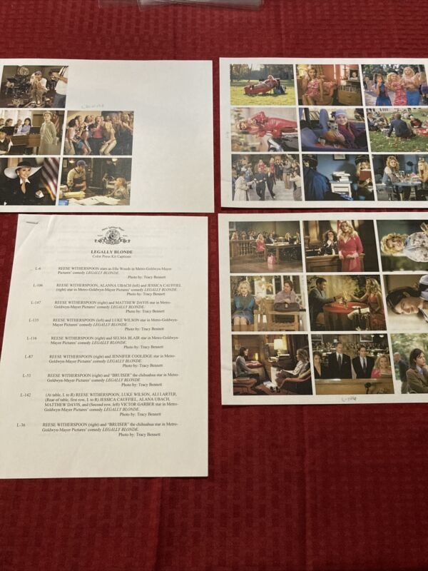 Legally Blonde Press Photo Guide 2001 Reese Witherspoon Luke Wilson