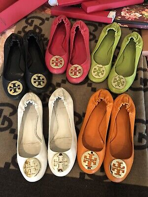 Tory Burch Leather Reva Metal Logo Ballet Flats SOLD SEPARATELY 6 AVAILABLE