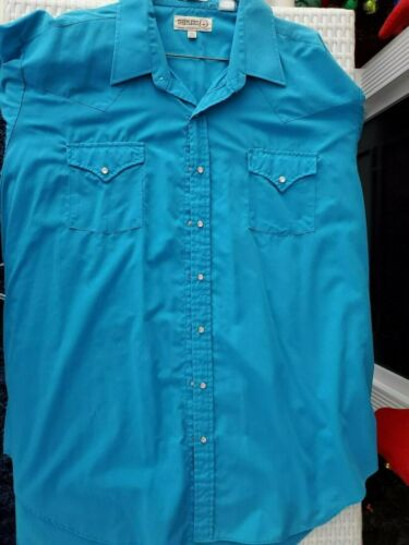 SHEPLERS TURQUOISE MENS WESTERN SHIRT