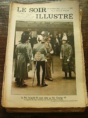 Le Soir Illustré - Le Roi Léopold III rend visite au Roi George VI - 20/11/1937