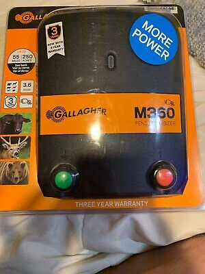 Gallagher M360 Electric Fence Energizer 250 Acres 55 Mi