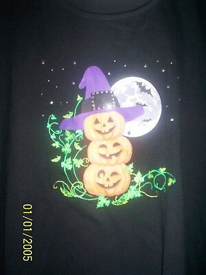 Halloween Holiday Edition (HALLOWEEN Holiday Editions  Women's Top w/Pumpkin Stacked  NWTs 2X REDUCED)