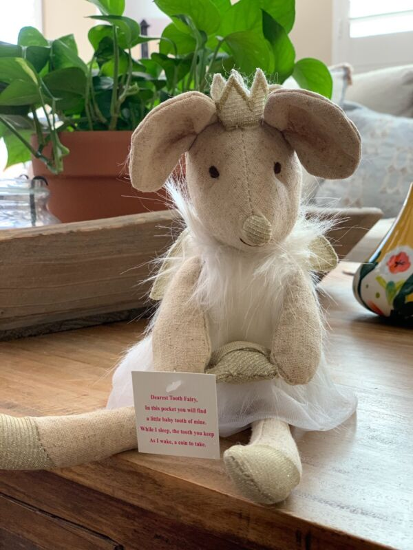 New Anthropologie Adorable Mouse Tooth Fairy Stuffed Animal- Sold Out