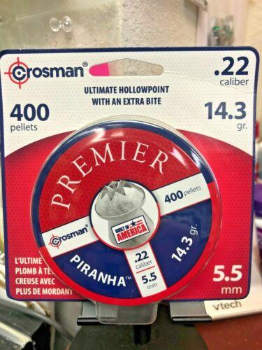 Crosman, Piranha, Ultimate Hollowpoint w/Extra Bite, .22 Caliber, 400 Pellets