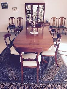 Mahogany dining table and chairs O'Connor North Canberra Preview