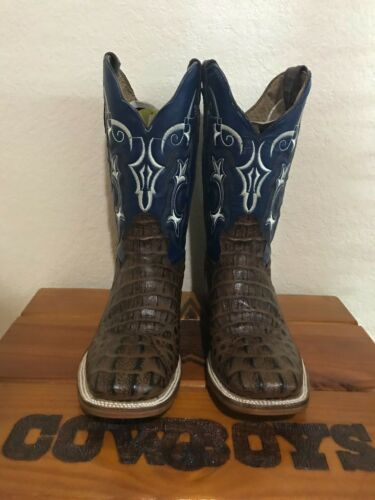 Mens, Rodeo, Cowboy, Alligator, Neck, Print, Western, Toe, Boots