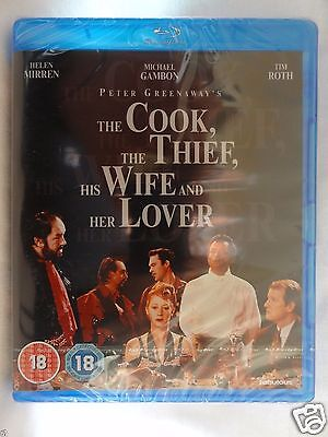 The Cook, the Thief, His Wife and Her Lover [1989] (Blu-ray)~~Mirren~~NEW