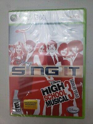 Disney Sing It High School Musical 3 Senior Year Bundle Xbox 360 New Xbox 360