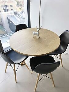 REPLICA EAMES DINING TABLE & CHAIRS Glebe Inner Sydney Preview