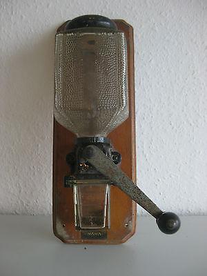 Wandkaffeemühle mit Glas HAHA Vintage selten