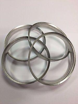 4 X ALUMINIUM METAL SPIGOT RINGS 72.6 - 60.1 HUB CENTRIC SPACER RINGS