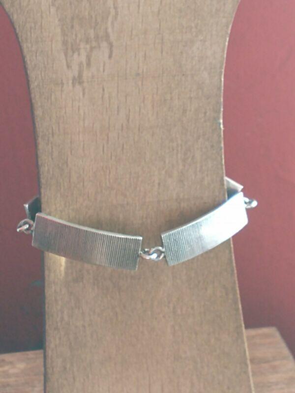 Victor Janson, Sweden Modernist Silver Swedish Link Bracelet