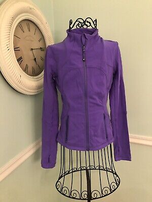 Lululemon Define Jacket 2 4 Power purple Full Zip Up Fitted Slim Athletic