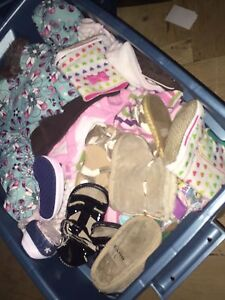 Tote full of girls clothes
