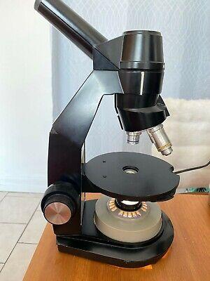 Bausch Lomb Monocular Microscope Wslide Attachment 5x 10x 45x Working