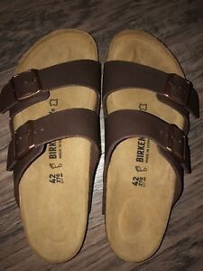 Birkenstock new men brown sandals 9 size42