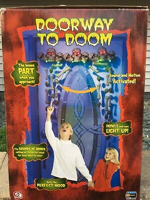 Gemmy Motion Activated Animated Lighted Sound Effects Doorway To Doom Halloween