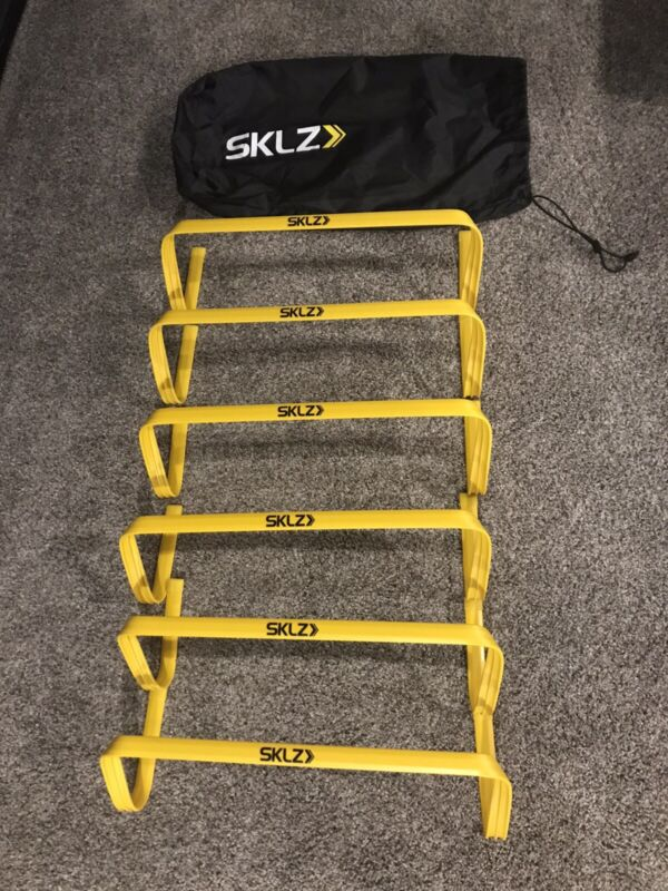 SKLZ 6-Pack Footwork and Agility Training Hurdles with Bag - Yellow