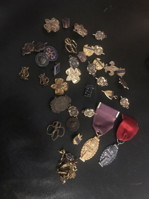 Lot of Over 30 Vintage Service/Award Pins