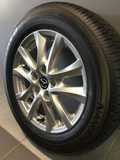"MAZDA 3 MAXX SPORT MY16 16"" GENUINE ALLOY WHEELS AND TYRES"