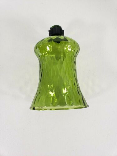 "Votive Cup Homco Home Interior Avocado Green Glass Candle Holder 5.5"" h"