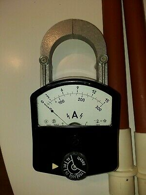 Russian4502 Vintage Ac Clamp-on Amp Meter 15- 750 Amps.