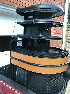 Open Merch Refrigerator 36x 38x 59 Hi 3 Shelf Grab N Go 208 Volts Works Right