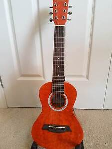 Sanchez mini steel string guitar w pick-up and Deluxe case Irymple Mildura City Preview