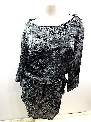 (MINX WOMENS BLACK & GRAY POLYESTER RAYON PARTY DRESS WOMENS SIZE L)