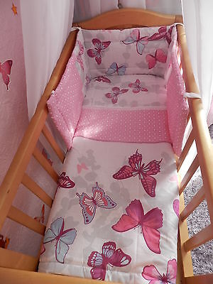 NEW BUTTERFLIES - BUTTERFLY - CRIB COT SPACE SAVER OR COT BED  BEDDING SET