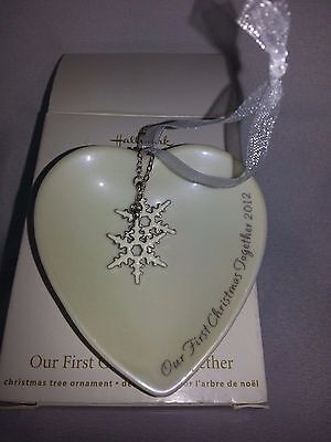 Our First Christmas Together 2012 Hallmark Holiday Ornament