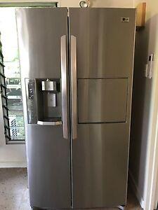 LG fridge/freezer with ice and water dispenser Wanguri Darwin City Preview
