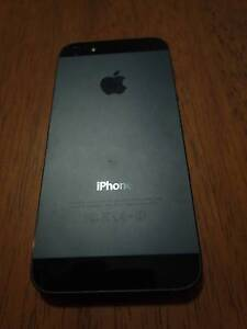 Apple iPhone 5 - 16GB -UNLOCKED Black FAULTY Collingwood Yarra Area Preview