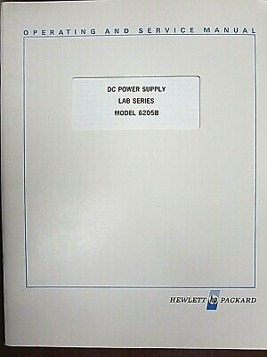 Hp Dc Power Supply Lab Series Model 6205b Operating Service Manual 06205-90002