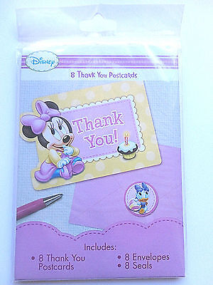Disney Baby Minnie Mouse Thank you Cards 8 COUNT - Minnie Mouse Thank You Cards