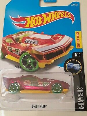 "2016 HOT WHEELS "" DRIFT ROD "" X-RAYCERS RED 1:64 CASE Q #321"