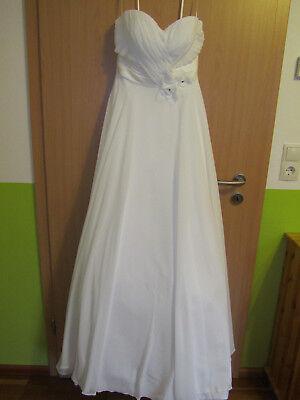 Brautkleid, elfenbein, mit Schleppe, Größe 38 (US-Größe 8) gereinigt