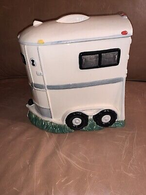 Montana Lifestyles Horse Trailer Cookie Jar, Horse Chip Cookies, Large! Rare!